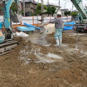 奈良市K様邸 1F地盤改良工事2日目