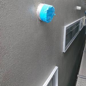 大阪市T様邸 外壁左官上塗り終わりました