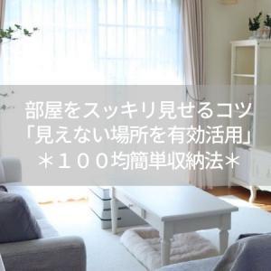 部屋をスッキリ見せるコツ「見えない場所を有効活用」*100均簡単収納法