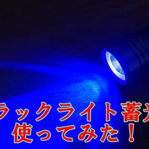 釣り用ブラックライト蓄光器「根魚権蔵」使ってみた!