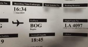 NO SHOW!飛行機乗り遅れ!ラタム航空 Holiday Inn Bogota Airport