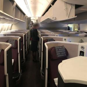 狭苦しい!初めてのSS2 JAL 羽田 バンコク ビジネスクラス搭乗記