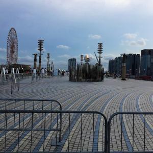 今日は聖火台と東京2020オフィシャルショップ