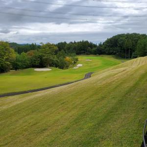 嵐の前のゴルフでした