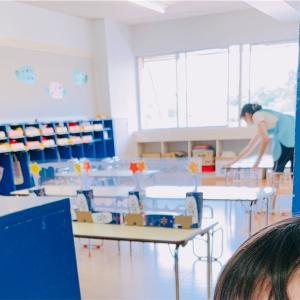 幼稚園の新しいお給食スタイル。