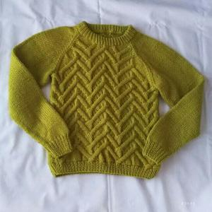 子ども用杉綾模様のセーター