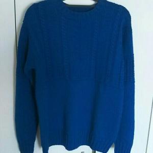 メンズガンジーセーター 完成♪