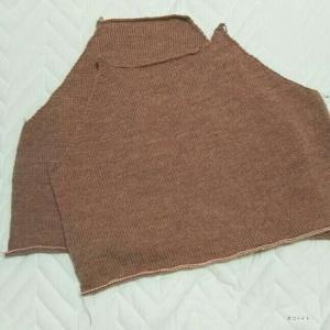 ラグランスリーブのセーター 1