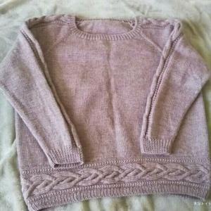 ラグランスリーブのセーター 完成♪