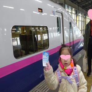 新幹線でおじいちゃんの家へ