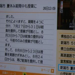 夏休み短縮 今年は8月8日~8月23日の15日間??