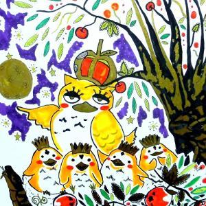 秋のイラスト作品『深い森の王様』