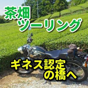 【ツーリング】静岡県の大井川に架かるギネス認定の木造橋「蓬莱橋」へ、アクセスは駐車場が有る東側へ!西側には行っちゃダメです!