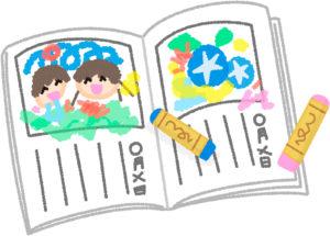小学時代の絵日記。保管されていたその場所は…
