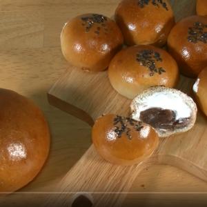プロが家でパンを作る動画 ~ひとくちホイップあんぱん~