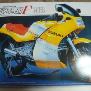 アオシマ 1/12 SUZUKI RG250Γ(ガンマ) Ⅱ型 HB(ハーベーカラー) その1