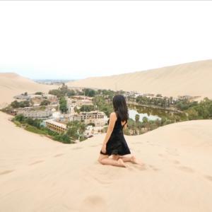 一度は訪れたい砂漠のオアシス、「ワカチナ」<南米ペルー>
