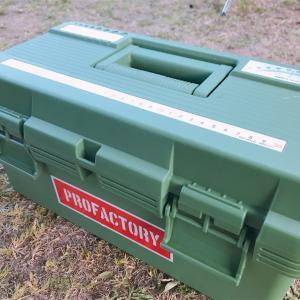 キャンプでの炭の持ち運びに便利!コーナンさんのツールボックス