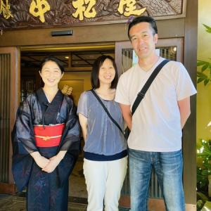 イケメン 阿部寛さんと⁉️当館若い常連さんから嬉しいお言葉❤️