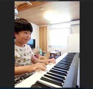 ●ピアノ記事 画面の向こうから元気ビーム