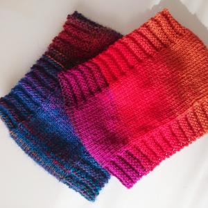 母が編んだスヌード♪