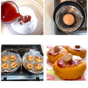 トマト嫌いな方も美味しく!フライライパンで簡単に作れる「トマトウインナーチーズパン」