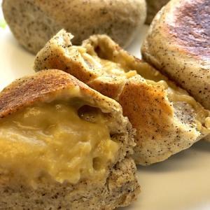 【試作】レンジで作れる紅茶クリーム!とろ~りな味わいフライパン&オーブンDE「紅茶クリームパン」
