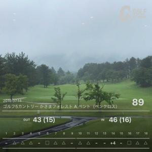 7月14日 8週連続ゴルフ第8回目 月例コンペ