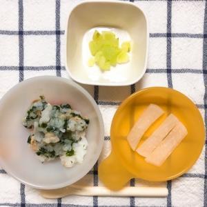 【8ヶ月】離乳食2週目・ぶどう