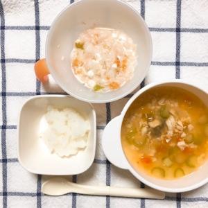 【8ヶ月】離乳食3週目・カッテージチーズ【アレルギー】