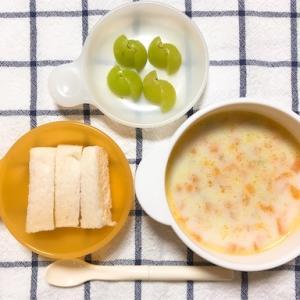 【9ヶ月】離乳食3週目・食パン【アレルギー】