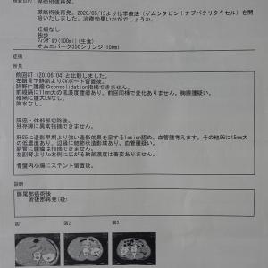 抗がん剤治療(再発後6回目):マーカー値低下