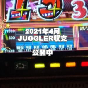 2021年4月ジャグラー収支・パチスロ収支ブログ