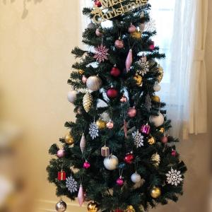 まぁまぁ完成したクリスマスツリー♡