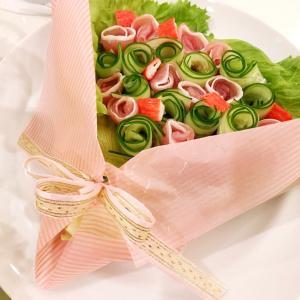 花束サラダとクリスマスごはん♡