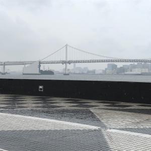 雨のレインボーブリッジ♡