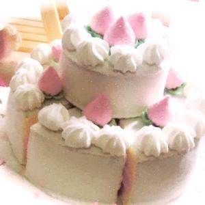 2段お誕生日ケーキ♡