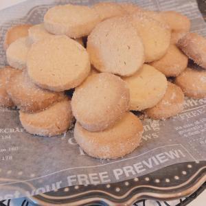 ザクザク食感の塩バタークッキー♡