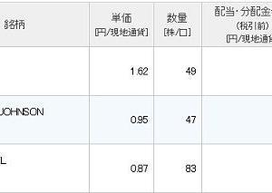 【IBM/JNJ/XOM】配当入金ラーッシュ!!