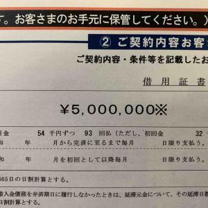 政策金融公庫から500万円を借りました。