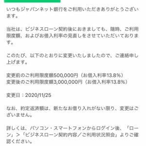 借入限度額が300万円になった話