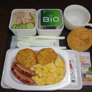 なんちゃって機内食「機内食チャレンジ_110」スクランブルエッグ&ハッシュポテト