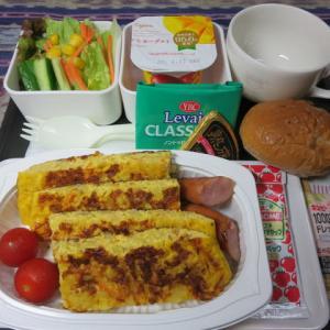 なんちゃって機内食「機内食チャレンジ_122」チーズオムレツ