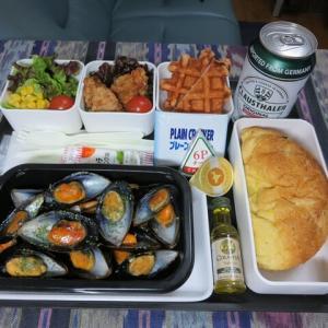 なんちゃって機内食「機内食チャレンジ_300」ムール貝のワイン蒸し