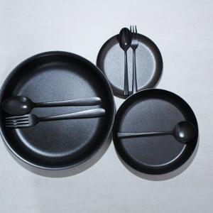 燕三条の職人が手がける黒染めステレンレステーブルウェア【KURO/96】
