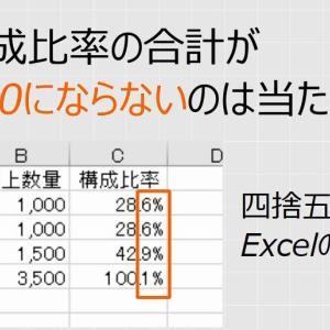 【Excel】ROUNDの四捨五入の計算結果が合わないのはExcelのせいではない