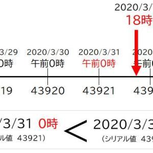 【Excel日付の前後】以降は大きい、以前は小さい、最近の日付は最大値を求める