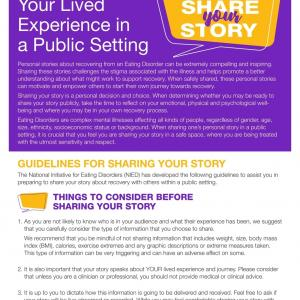 Speaking About Your Lived Experience in a Public Setting