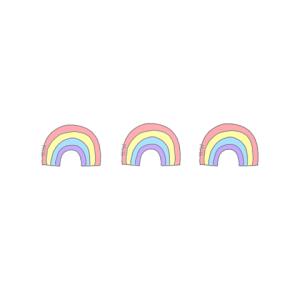 幸運の3重の虹を見た水曜日