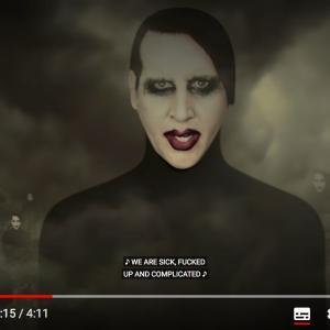 """Marilyn Mansonのニューシングル """"WE ARE CHAOS"""""""